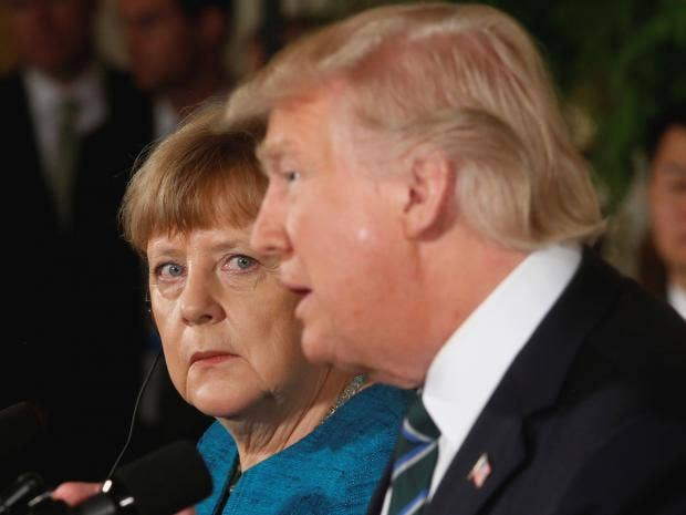 Image result for Merkel, trump, photos