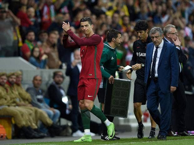 Ronaldo's goal wasn't enough to help secure victory for Portugal Getty
