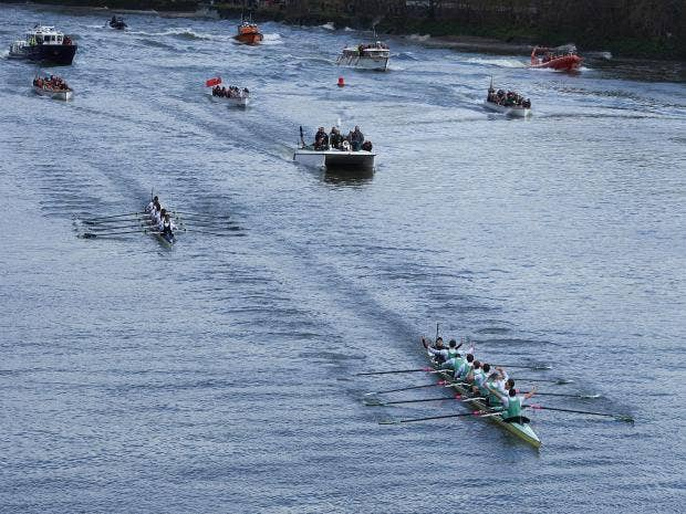 Cambridge suffer hard-fought defeat in Men's Boat Race