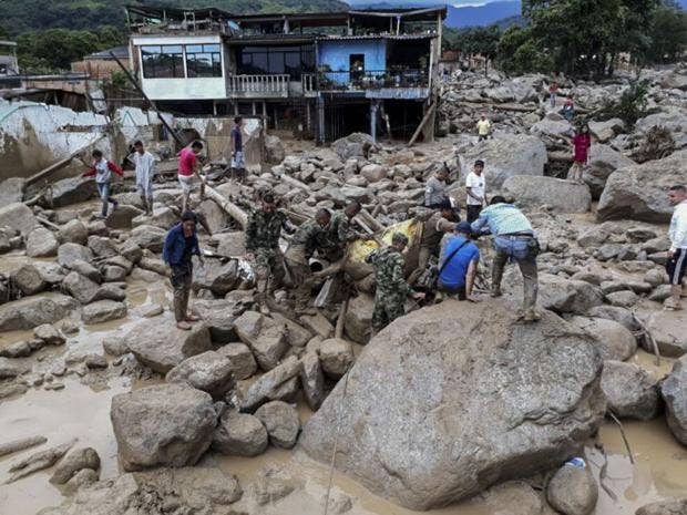Image result for 112 people killed as landslide destroys Colombia town
