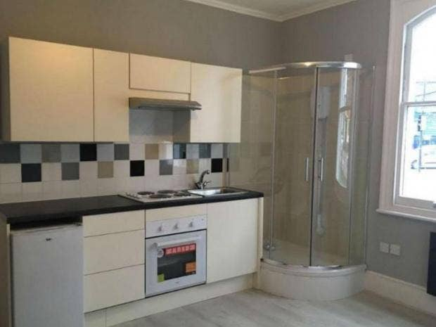 London Flat With Shower In The Kitchen Renting Out At 850 Per Month The Independent