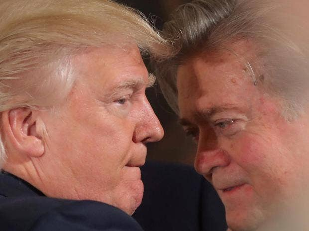 Steve Bannon founded the far-right website Breitbart which supported Donald Trump's presidential bid Reuters