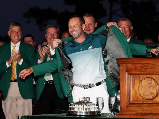 Image result for sergio garcia wins 2017 masters