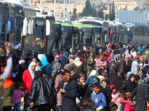 Death toll in Aleppo bus convoy bomb attack reaches 126