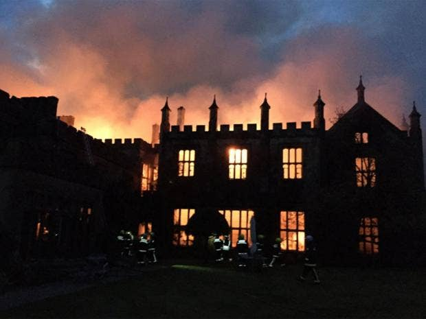 architecture on fire 16th century stately home in dorset gutted by suspicious fire