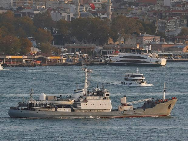Russian intelligence ship sinks off Turkey's Black Sea coast