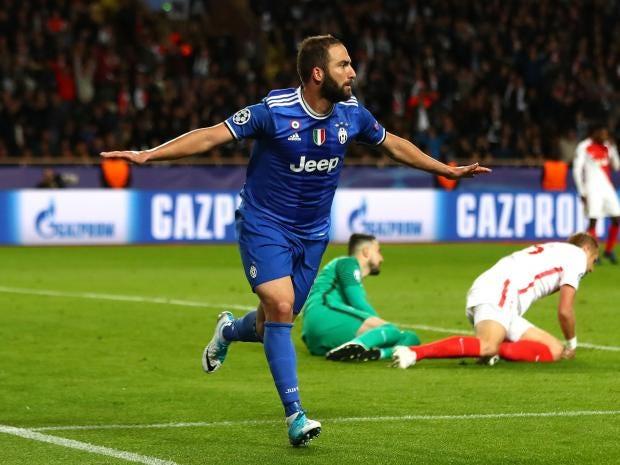 Higuain strikes twice as Juve beat Monaco
