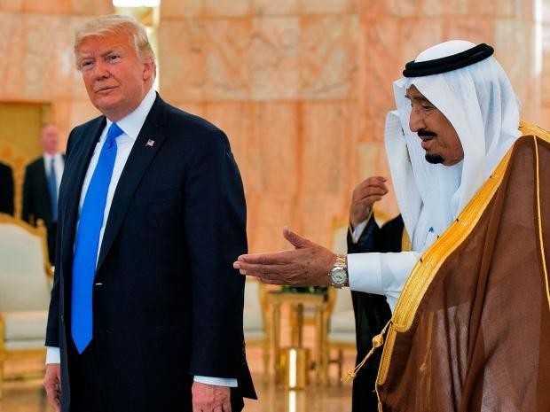 نتيجة بحث الصور عن Saudi Arabia pays money to Trump