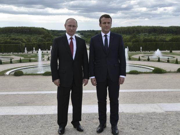 ¿Cuánto mide Emmanuel Macron? - Real height Putin-macron