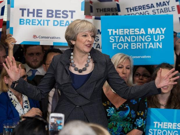 Theresa May, British prime minister and leader of the Conservative Party
