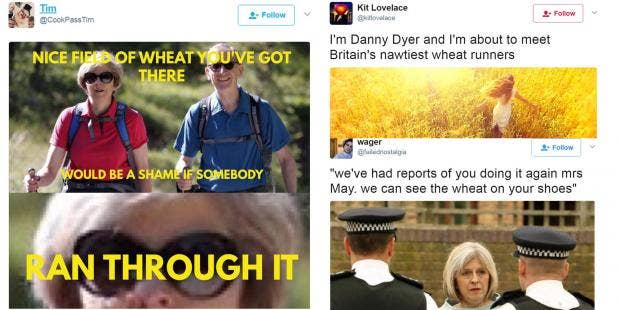 wheat people are relentlessly mocking the naughtiest thing theresa may did