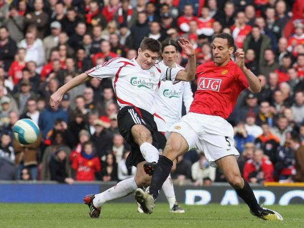 Image result for steven gerrard vs ferdinand
