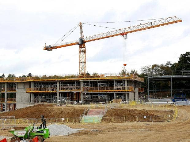 """The construction site in Sevenoaks, Kent, where the first """"new"""" grammar school in 50 years has been approved"""