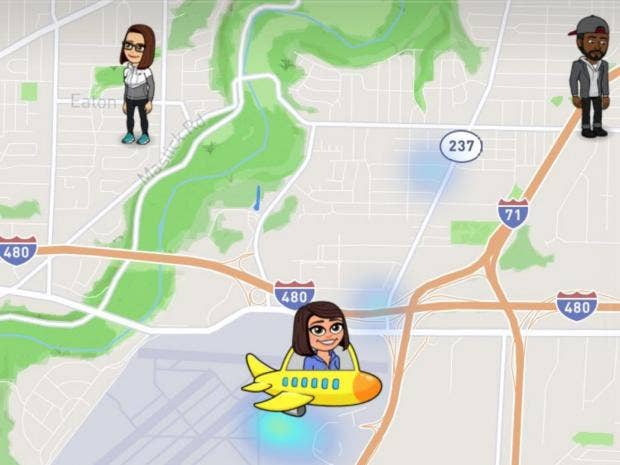 Snapchat Shows People Where You Are And What Youre Doing The - Mapping plane highway and train traffic us
