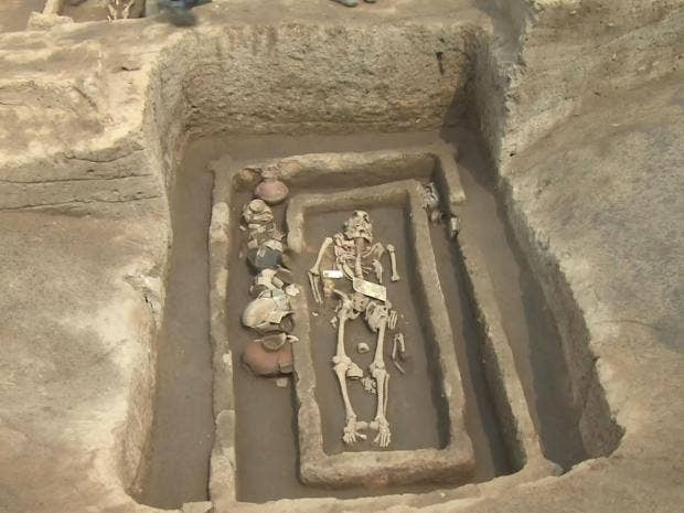 Skeletons of 5,000-year-old Chinese 'giants' discovered by archaeologists