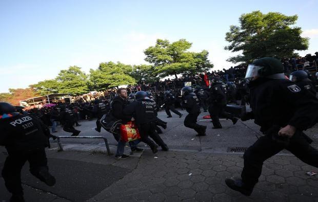 Image result for riots hamburg