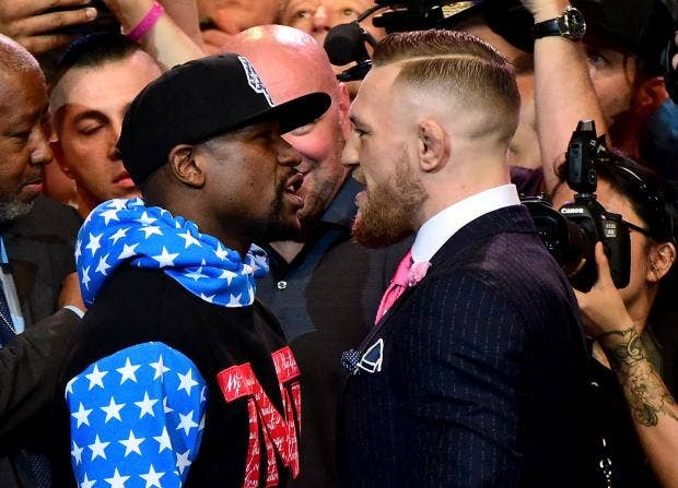 Image result for conor vs Floyd LA press conference