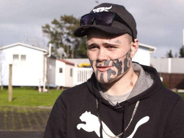 Man with 'DEVAST8' face tattoo says he can't find work | The ...
