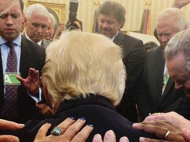 pastors who prayed with donald trump accused of heresy the independent