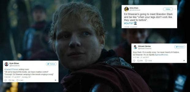Ed Sheeran Was In Game Of Thrones And People Are Furious Indy - 17 hilarious reactions to ed sheeran appearing in game of thrones