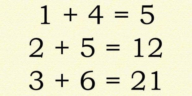 People are freaking out over what looks like a simple math problem ...