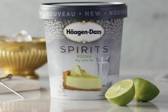 H agen dazs launches five new alcohol themed ice cream for Ice cream with alcohol
