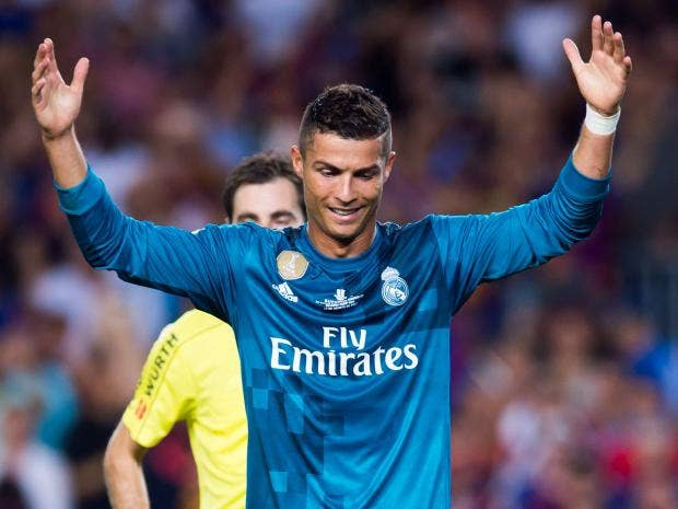 Cristiano ronaldo sent off for diving two minutes after scoring as real madrid beat barcelona 3 - Cristiano ronaldo dive ...