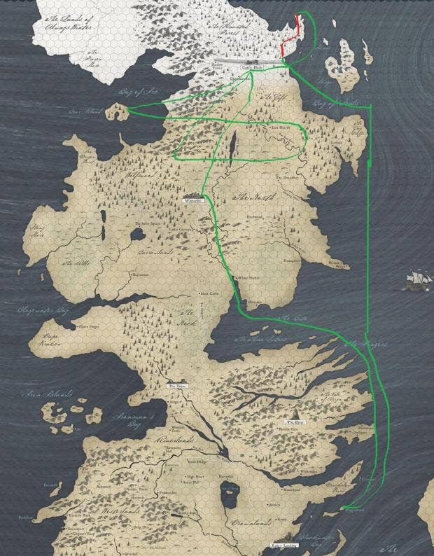 Game of thrones season 7 white crawlers map shows how far jon uerterbernds67 rgameofthrones gumiabroncs Image collections