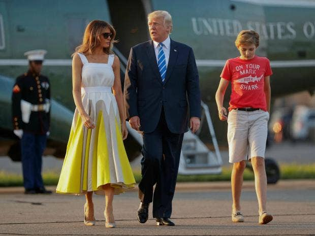 Melania Trump thanks Chelsea Clinton for defending her son Barron from critics | The Independent
