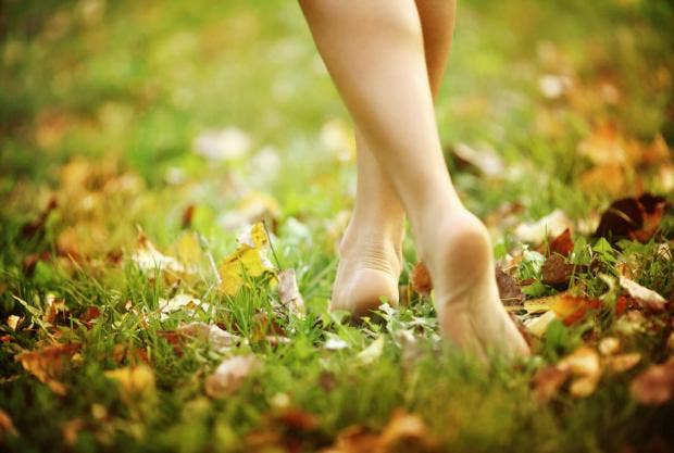 Image result for walking barefoot