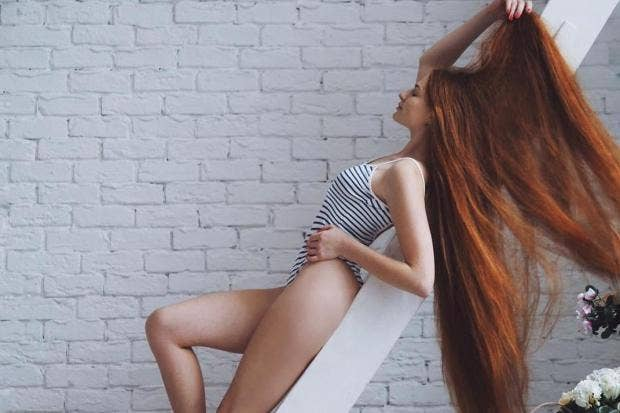 Woman Recovers From Alopecia To Become Real Life Redhead Rapunzel The Independent