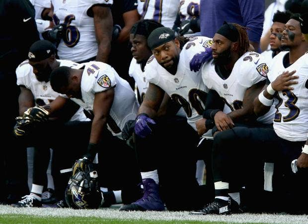 Take a knee: Dozens of NFL players stage biggest protest ...