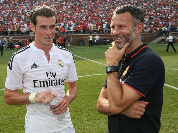 Image result for Gareth Bale with Ryan Giggs