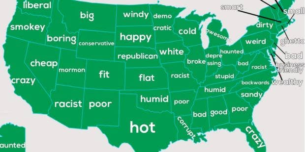The Extremely Offensive Google Autocomplete Map Of The United - Us welfare map