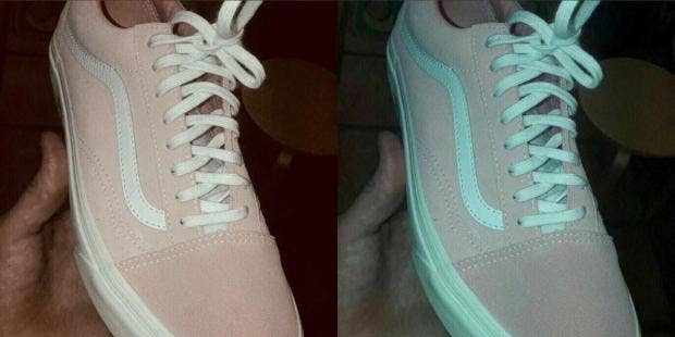 do you think these trainers are pink and white or blue and grey