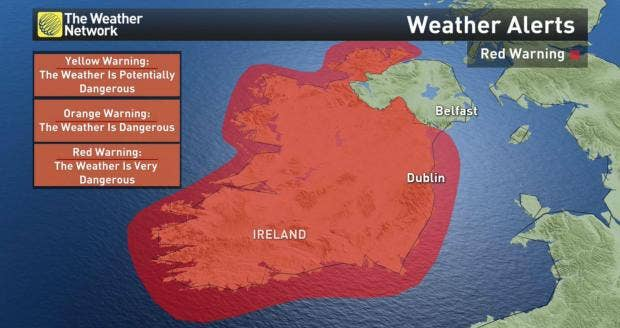 US weather forecast suggests Hurricane Ophelia will stop at the