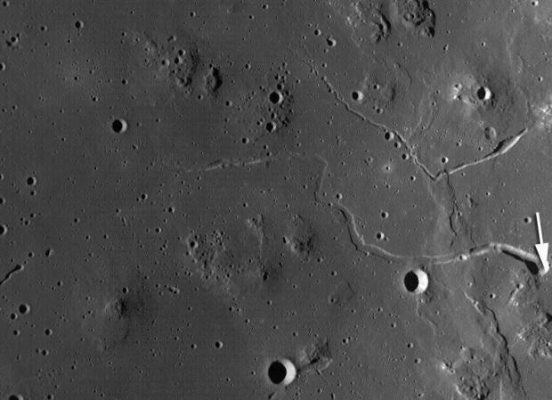 Risultati immagini per The massive cave system could provide shelter for future astronauts on the moon