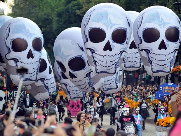 Day Of The Dead Thousands Take To Mexico City Streets To - 9 interesting things about the day of the dead