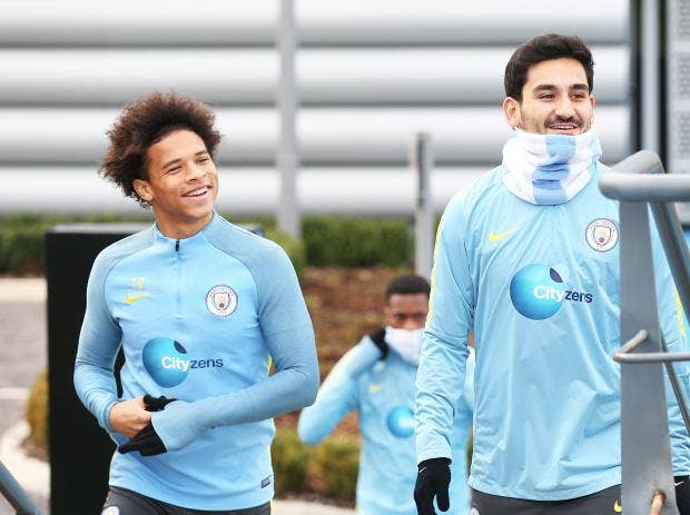Image result for leroy sane ilkay gundogan