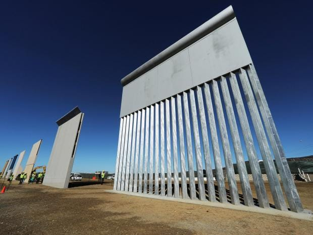 Image result for wall prototypes trump