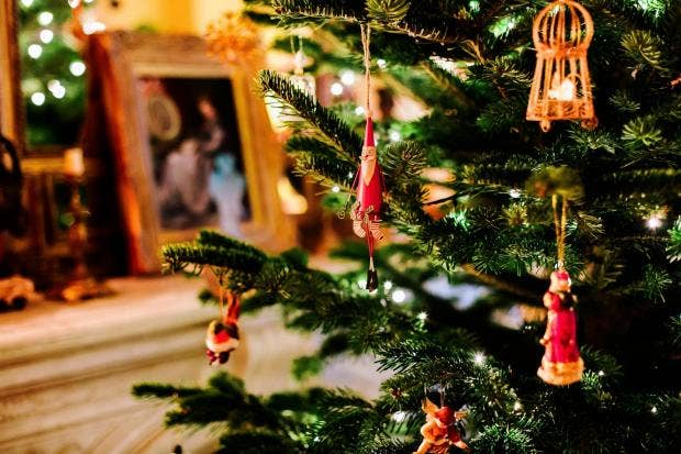 people who put up christmas decorations early are happier experts reveal - People Decorating A Christmas Tree