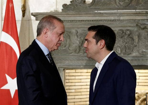 Image result for Tsipras, erdogan photos