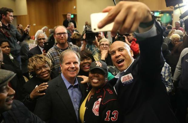 Image result for black politicians visiting alabama to help doug jones photos