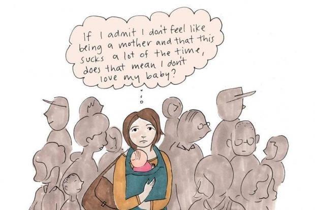 Imagini pentru postnatal depression illustration