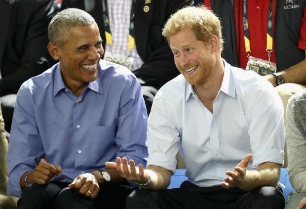 Image result for Britain Prince Harry Interviews Ex President Barack Obama