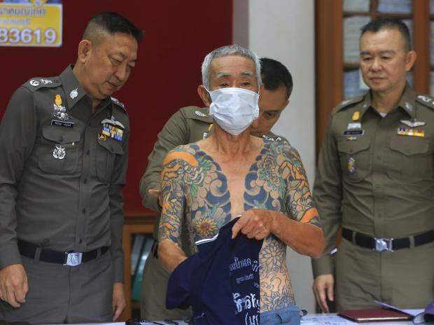 Man Yakuza Cigar Tattoo: Japanese Yakuza Boss Arrested In Thailand After Police