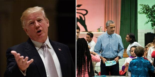 The Difference Between Trump And Obama On Martin Luther King Day