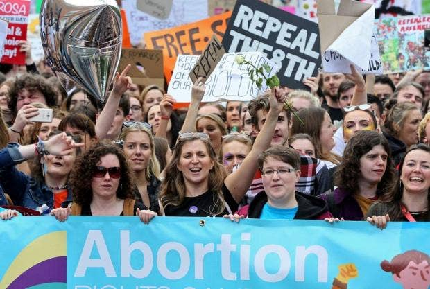 Ireland will hold a referendum on its restrictive abortion laws at the end  of May Getty