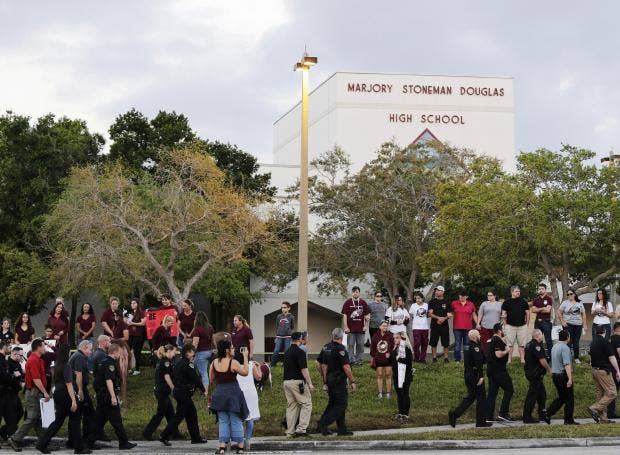 Florida Shooting: Marjory Stoneman Douglas High School Resumes Classes For  First Time Since Massacre  High School Resumes