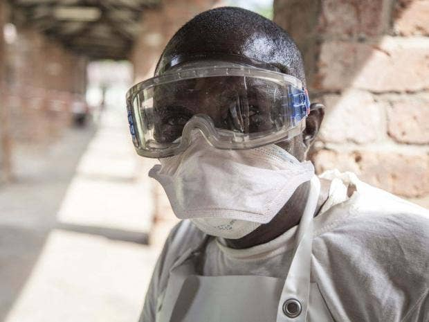 Health workers will distribute vaccine to those who may have been in  contact with people suspected of having Ebola EPA